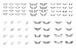Wing art collection Stock Images