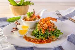 Wing Bean Shrimp Salad imagem de stock