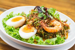 Wing Bean Shrimp Salad Royalty Free Stock Photography