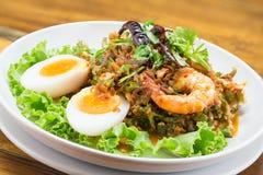 Wing Bean Shrimp Salad Royalty Free Stock Photography