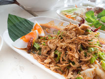 Wing Bean Shrimp Salad Yum Tua Poo imagens de stock
