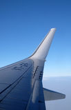Wing of Boeing 737 airplane Royalty Free Stock Photography