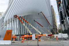 Wing by Calatrava construction of New York Royalty Free Stock Images