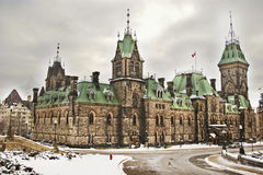Wing of Canadian Parliament in Ottawa Royalty Free Stock Photos