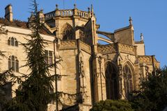 Wing of the Cathedral of Auch. In Gascony royalty free stock photography