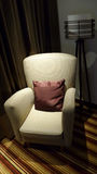 Wing chair under light Royalty Free Stock Photography