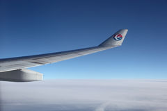 Wing of a China Eastern Airplane Royalty Free Stock Images