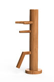 Wing chun wooden dummy. This is a wooden dummy which used to practise Wing Chun or Jeet Kune Do Royalty Free Stock Images