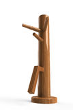 Wing chun wooden dummy. This is a wooden dummy which used to practise Wing Chun or Jeet Kune Do Stock Photos