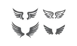 Wing Collection Set. Logo Design Template Vector Stock Image