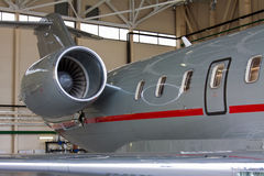 Wing and engine Royalty Free Stock Photography