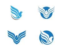 Wing Falcon Logo Template Fotos de archivo