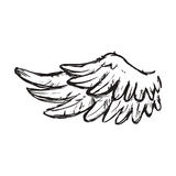 Wing feather animal bird angel icon. Vector graphic Stock Photo