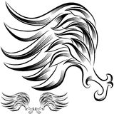 Wing Flourish Drawing Stock Images