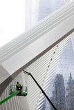 Wing on ground zero in new york city being cleaned Stock Image
