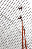 Wing on ground zero in new york city being cleaned Royalty Free Stock Photos