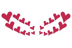 Wing Heart. Heart arranged to look like a wing. Royalty Free Stock Images