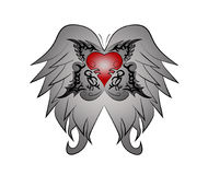 Wing-heart tribal Royalty Free Stock Image