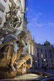 Wing Of Hofburg Imperial Palace de San Miguel en Viena en Austria imágenes de archivo libres de regalías