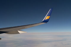 Wing from Icelandair Stock Image