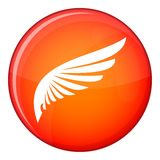 Wing icon, flat style Stock Photo