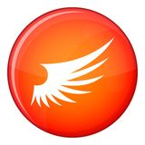 Wing icon, flat style Royalty Free Stock Photos