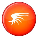 Wing icon, flat style Royalty Free Stock Photo