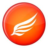 Wing icon, flat style Royalty Free Stock Image