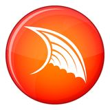 Wing icon, flat style Stock Photos