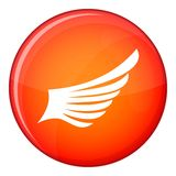 Wing icon, flat style Royalty Free Stock Images