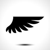 Wing icon isolated on white background Royalty Free Stock Photo
