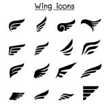 Wing icon set Royalty Free Stock Photography
