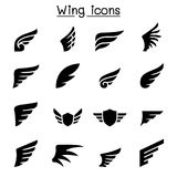 Wing icon set Royalty Free Stock Photo