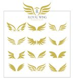 Wings icon set. Wing icon set. wings design for logo elemant vector illustration