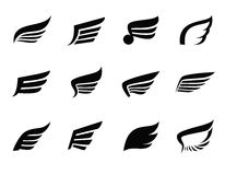 Wing icon Royalty Free Stock Images