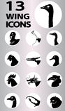 Wing icons collection Stock Photo