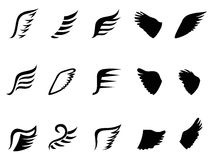 Wing icons Royalty Free Stock Image
