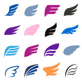 Wing icons set, isomettric 3d style Stock Images