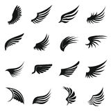 Wing icons set, simple  Royalty Free Stock Photography