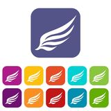 Wing icons set Stock Image
