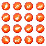 Wing icons vector set Stock Images