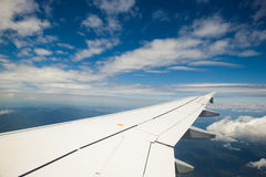 Wing of jet plane Stock Photos