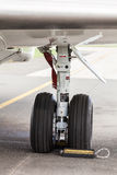 Wing landing gear Royalty Free Stock Photography