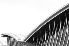 Wing-like Airport Terminal Architecture Stock Photography