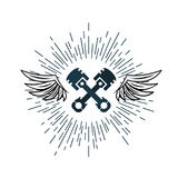 Wing Logo automotriz Ilustración del vector Fotos de archivo libres de regalías