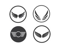 Wing logo symbol icon vector illustration. Template royalty free illustration
