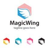 Wing Logo Template Design Vector mágico Foto de archivo libre de regalías