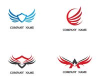 Wing Logo Template vector icon illustration Royalty Free Stock Photos