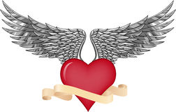 Wing and love Stock Images