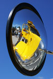 Wing mirror reflection Royalty Free Stock Images